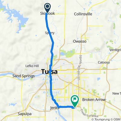 110 N Broadway St, Skiatook to 9610 S 90th E Ave, Tulsa