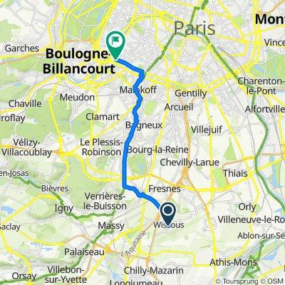 De Rue Victor Baloche 3, Wissous à Boulevards des Maréchaux 67, Paris