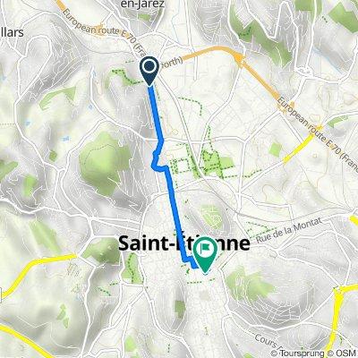 De 173 Rue Bergson, Saint-Étienne à 3 Place Antonin Moine, Saint-Étienne