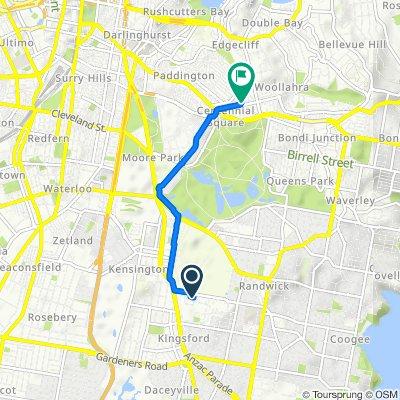Third Avenue, Kensington to 57 Moncur Street, Woollahra