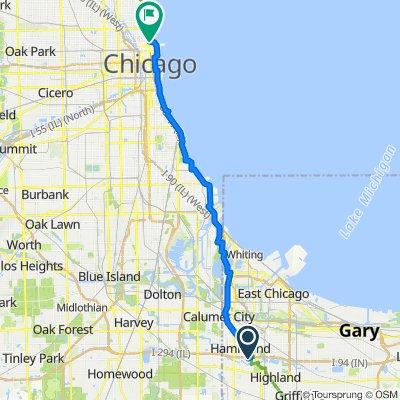 7730 Delmar Ave, Hammond to E Pearson St, Chicago