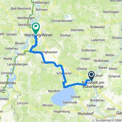 NRü nach Nienburg über Schneeren, Bolsehle