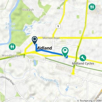 5 Poynton Avenue, Midland to 5 Victoria Street, Midland