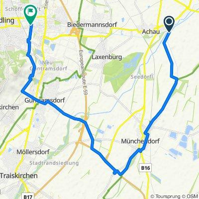 Hauptstraße 23, Achau nach Schulweg 8, Mödling