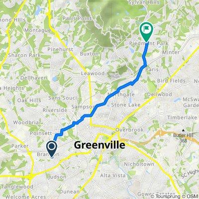 26 Draper St, Greenville to 29–99 W Belvue Rd, Greenville