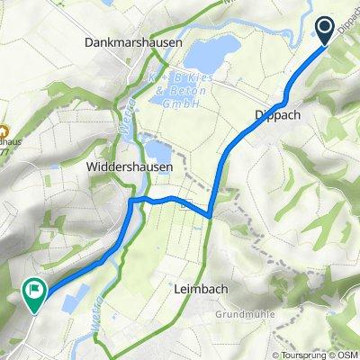Dippacher Straße 12A, Werra-Suhl-Tal nach Widdershäuser Straße 15, Heringen (Werra)
