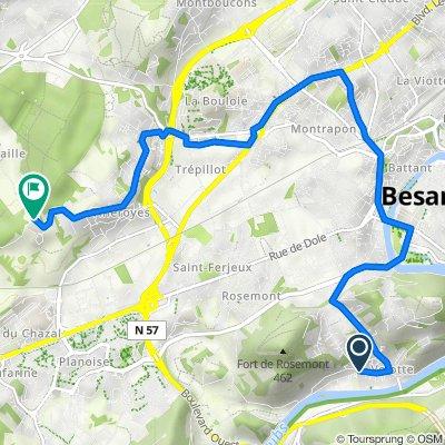 De 35 Chemin des Journaux, Besançon à Chemin de la Chaille, Besançon