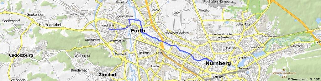Vo Fädd nach Nämberch schee an der Pengaz entlang!!!