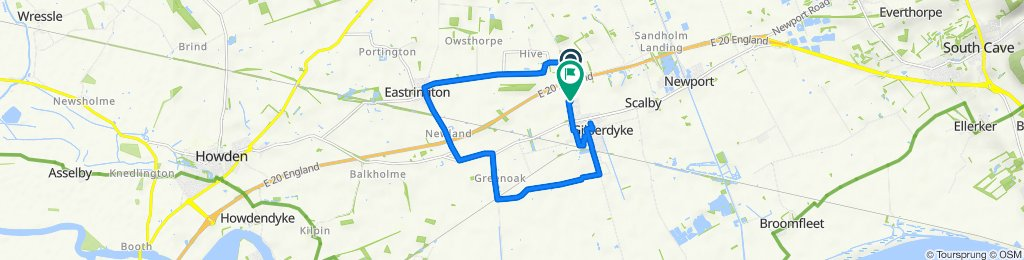 Sandholme Road, Newport, Brough to 7 Wentworth Close, Brough