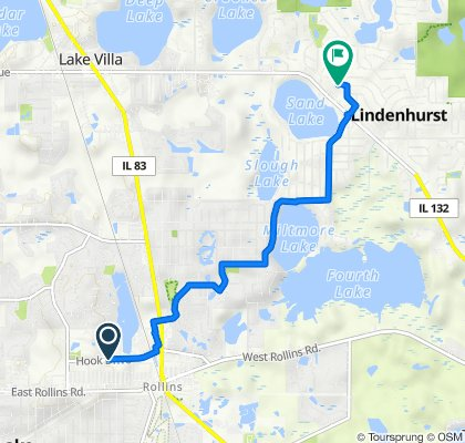 Route to 1903 Burr Oak Ln, Lindenhurst