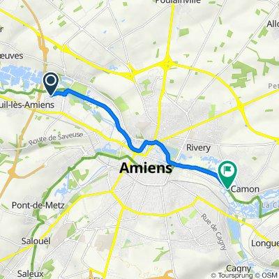 De Rue Auguste Blanqui 5, Amiens à Rue Marius Petit 107, Camon