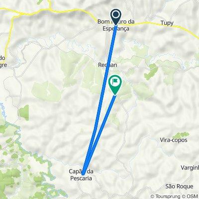 Rota desde Rua Ana Januária, 513–629, Angatuba