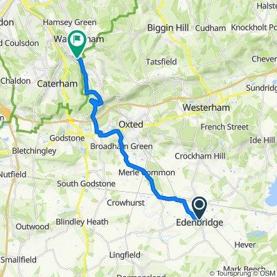 Bridges, High St, Edenbridge to Cotters Bungalow, Bug Hill, Caterham