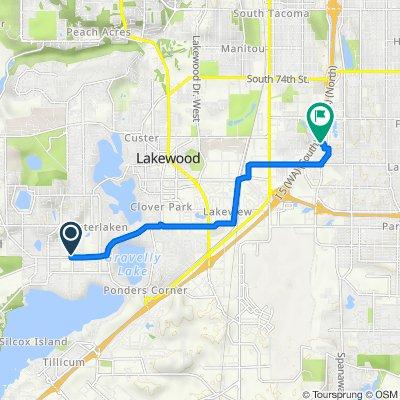 11906 Lake City Blvd SW, Lakewood to 2111 S 90th St, Tacoma