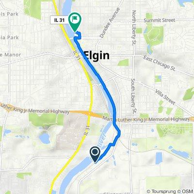 River Road 1380, South Elgin to North Grove Avenue 274, Elgin