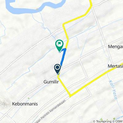 Jalan Tentara Pelajar 53, Kecamatan Cilacap Utara to Jalan Angsana 20, Kecamatan Cilacap Utara