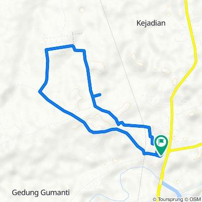 Jalan Lintas Sumatra, Kecamatan Tegineneng to Jalan Lintas Sumatra, Kecamatan Tegineneng
