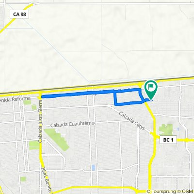 De Avenida Ramón Corona 1710–1798, Mexicali a Avenida Ramón Corona 1792, Mexicali