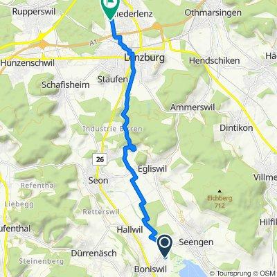 Kirchweg 19, Boniswil nach Lenzhardweg 43/45, Niederlenz