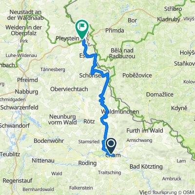 B5: Cham - Waidhaus 84km 577 hm