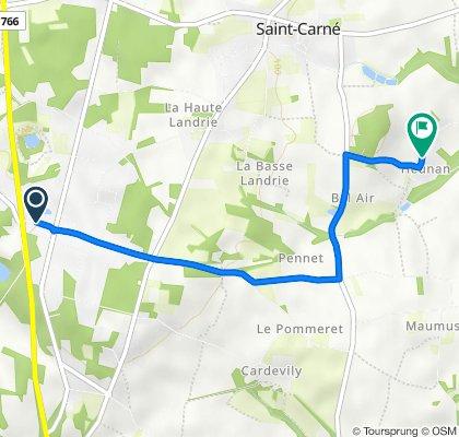 De 1 Chemin Xavier, Le Hinglé à 7 Heunan, Saint-Carné