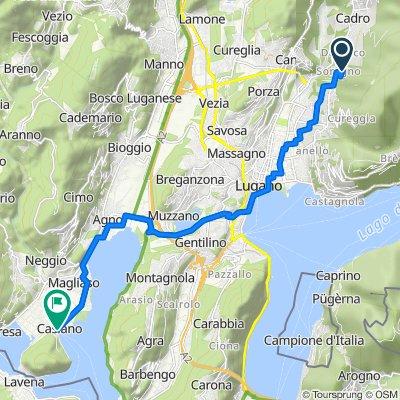Strada di Soragno 13A, Davesco-Soragno nach Via Fiume 2, Caslano