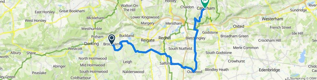 SC Brockham to Caterham