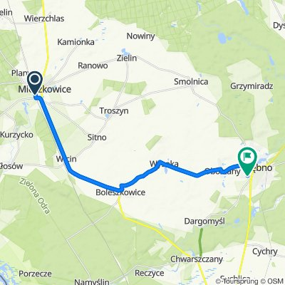 Łączna 21–33, Mieszkowice do Słoneczna 4, Dębno