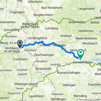 Route von Eschenweg 3, Wallhausen