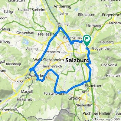 Flache Runde um Salzburg