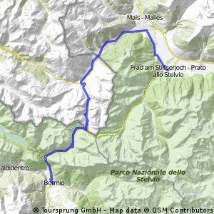 Bormio - Prato allo Stelvio via Alp Mutaunza