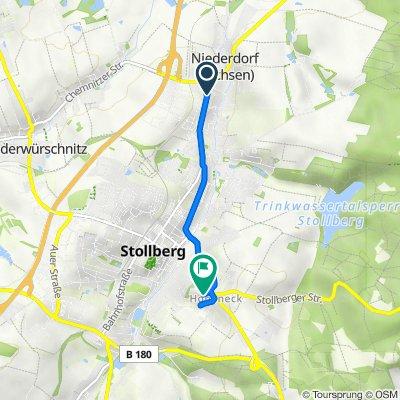 Chemnitzer Straße 49, Niederdorf nach An der Stalburg 6, Stollberg/Erzgeb.