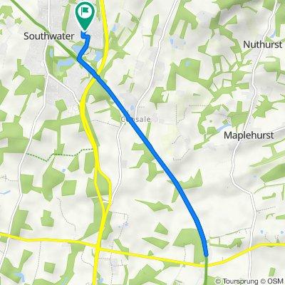 Bamborough Close 30, Southwater to Windsor Close 28, Southwater