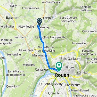 De 1–28 Place Jean Moulin, Malaunay à 20A Rue du Renard, Rouen
