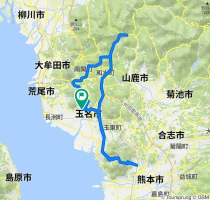 1361-3, Yamada, Tamana to 1361-3, Yamada, Tamana