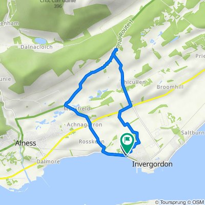 King George St, Invergordon to 40 Birchwood, Invergordon