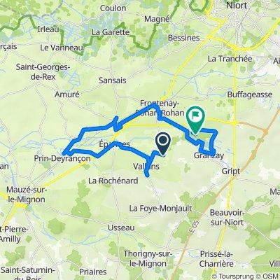 De Rue du Bief du Lac, Vallans à 21 Rue des Prises, Frontenay-Rohan-Rohan