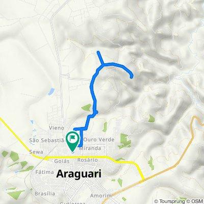 De Rua Colúmbia, 308, Araguari a Rua Oito de Maio, 150, Araguari