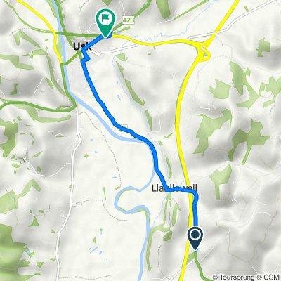 Usk Road, Llantrisant, Usk to A472, Usk