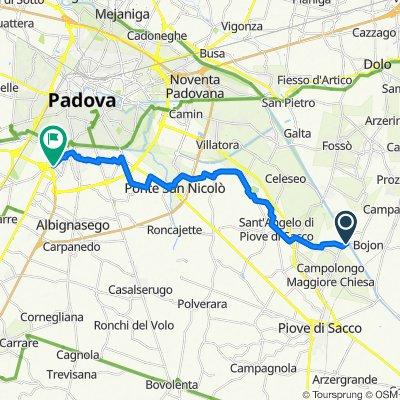 Da Via Passo, Campolongo Maggiore a Via Donatello 36, Mandriola-Sant'Agostino