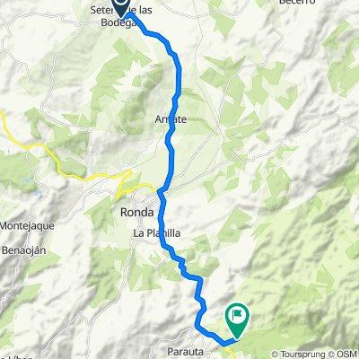 De CA-4223 18, Setenil de las Bodegas à Cortijo de las Carboneras, Parauta