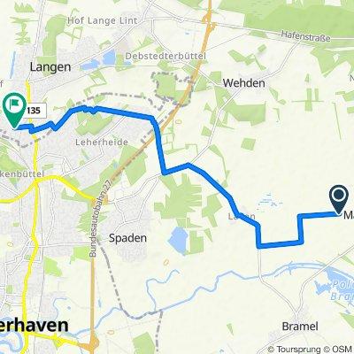 Route to Südstellenweg 26, Langen