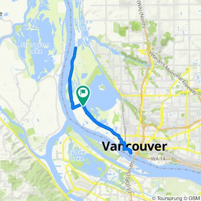 5599 NW Lower River Rd, Vancouver to 5595–5597 NW Lower River Rd, Vancouver