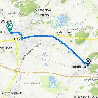 Klaus-Groth-Straße 45, Nordhastedt nach Am Nußgang 26–30, Heide