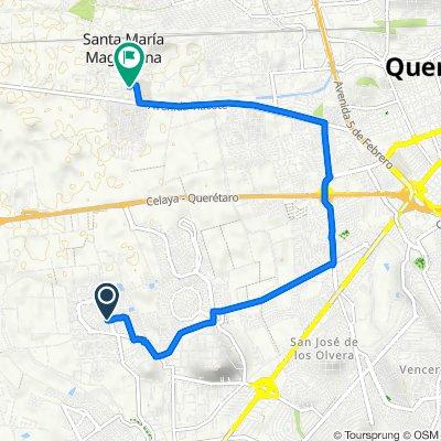 De Circuito Andamaxei a Avenida Miguel Hidalgo 56B, Santa María Magdalena