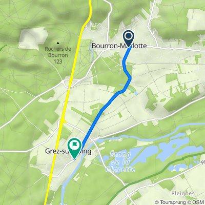 De 110 Rue du Général de Gaulle, Bourron-Marlotte à 92 Rue Wilson, Grez-sur-Loing