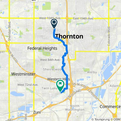 9903 Croke Dr, Thornton to 6859 Galapago Ct, Denver