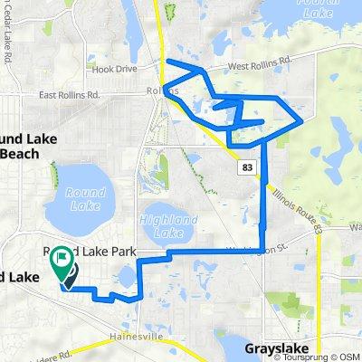 Kenwood Drive 205, Round Lake Park to North Brierhill Drive 218, Round Lake Park