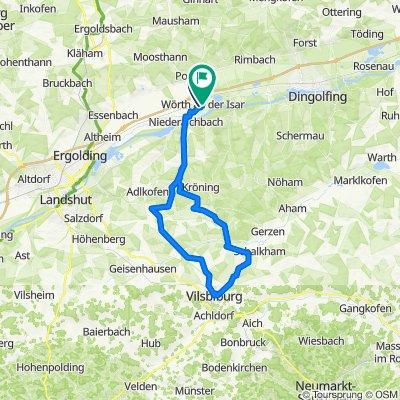 Fahrradtour_Wörth-Oberaichbach-Pattendorf-Lichtenhaag-Leberskirchen-Vilsbiburg-Seyboldsdorf-Günzkofen-Wörth