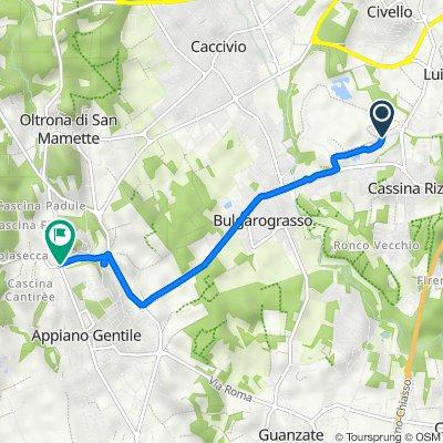 Da Via Alessandro Volta, Cassina Rizzardi a SP27, Appiano Gentile